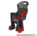 Prix spécial ! Porte bébé Boodie CFS Polisport sur porte-bagage noir & rouge