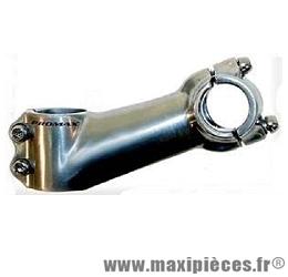 Potence ahead-set alu 1 pouce 1/8 110mm 25° cintre diamètre 25,4mm - Accessoire Vélo Pas Cher