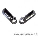 Embouts de guidon VTT bar-ends ergonomic 125 grammes (la paire) marque Leader - Accessoire vélo