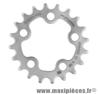 Plateau 20 dents compact diamètre 58mm argent 5 branches (intérieur) marque Spécialités TA - Pièce vélo