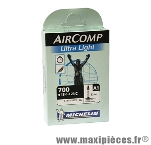 Chambre à air dimensions 700 x 18/23 a1 ultra light presta (valve 52mm) marque Michelin - Pièce vélo