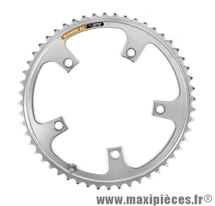 Plateau 52 dents bio-double marque Shimano - Pièce vélo