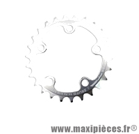 Plateau 26 dents zelito diamètre 74mm argent 5 branches (intérieur) marque Spécialités TA - Pièce vélo