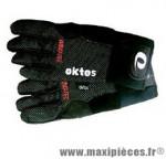 Gants de vélo hiver windtec noir m marque Oktos- Equipement cycle