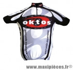Maillot manches courtes noir/rouge/blanc s marque Oktos- Equipement cycle