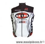 Gilet sans manche wintex noir/rouge/blanc s marque Oktos- Equipement cycle