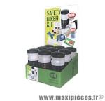 Kit de réparation 9 accessoires urgence dans un bidon x9 safety marque Roto - Accessoire vélo