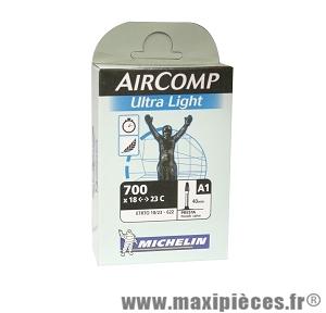 Chambre à air dimensions 700 x 18/23c a1ultra light presta (valve 40mm) marque Michelin - Pièce vélo