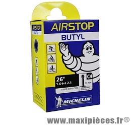 Chambre à air de 26 pouces x 1,45/2,60 c4 standard (26-8m) marque Michelin