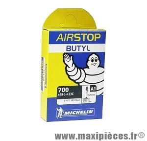 Chambre à air dimensions 700 x 18/25 - 622 a1 presta (valve 52mm) marque Michelin - Pièce vélo