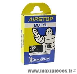 Chambre à air dimensions 700 x 18/23 a1 presta (valve 40mm) (28-4m) marque Michelin - Pièce vélo