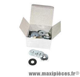 Rondelle plate diamètre 6x18mm épaisseur 1,2mm (boite de 100) - Accessoire Vélo Pas Cher