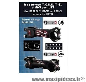 Potence ms1 duality 126 grammes 84° longueur 130 diamètre 31,8mm marque Mode - Pièce vélo