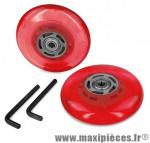 Roues roller skin rouge av acc - Accessoire Vélo Pas Cher