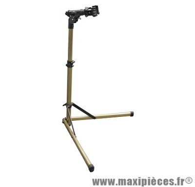Pied atelier vélo pliable alu (pince 360° - réglable en hauteur) - Accessoire Vélo Pas Cher