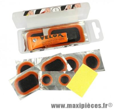 Nécessaire réparation allbike (9 rustines + tube dissolution 10 ml + rape) marque Vélox - Accessoire vélo