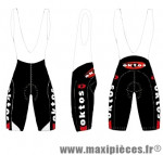 Cuissard bretelles noir xxl marque Oktos- Equipement cycle