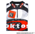 Maillot manches courtes noir s marque Oktos- Equipement cycle