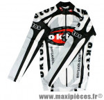 Maillot manches longues blanc s marque Oktos- Equipement cycle