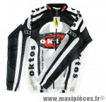 Blouson windtex hiver blanc xxl marque Oktos- Equipement cycle