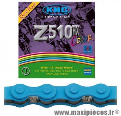 Chaîne de vélo BMX z510hx black nano bleu 112m marque KMC - Matériel pour Vélo