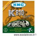 Chaîne de vélo BMX k810 kool série argent1/2 x 3/32ème 110 maillons marque KMC - Matériel pour Vélo