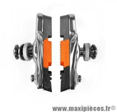 Porte patins route 55mm gris/orange/noir support alu (la paire) marque Baradine - Accessoire vélo
