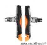 Porte patins VTT v-brake 78mm noir/orange support alu (la paire) marque Baradine - Accessoire vélo