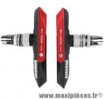 Porte patins VTT v-brake 72mm noir/rouge (la paire) marque Baradine - Accessoire vélo