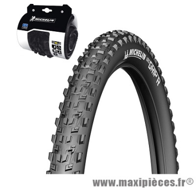 Pneu de vélo dimension 26 x 2,10 wild grip'r tringle souple noir marque Michelin