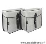 Sacoche s14 rectangle 1 fermeture gris 30x30x11 cm (la paire) marque Sporfabric- Equipement cycle