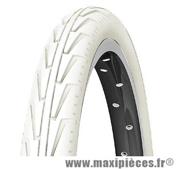 Pneu de vélo dimensions 12 1/2 x 1,75 diabolo city blanc marque Michelin