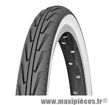 Pneu pour vélo de taille 20 x 1,75 diabolo city blanc/noir marque Michelin