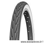Pneu pour cycle de dimension 24 x 1,75 diabolo city blanc/noir marque Michelin