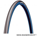 Pneu Michelin vélo course Dynamic Sport 700x23C (ETRTO 23-622) noir et bleu tringle rigide