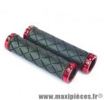 Revêtement de poignée pour vélo VTT cuadro lock rouge 130mm sous carte marque Herrmans - Accessoire vélo
