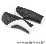 Revêtement de poignée pour vélo VTT / VTC oxy blanc noir 120mm sous carte marque Herrmans - Accessoire vélo