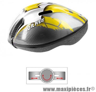 Casque vélo enfant ges hornet jaune-gris-carbone (50-55) - Accessoire Vélo Pas Cher