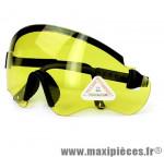 Lunettes vélo noir - verre jaune - Accessoire Vélo Pas Cher