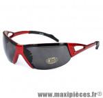 Lunettes vélo rouge - verre fume - Accessoire Vélo Pas Cher