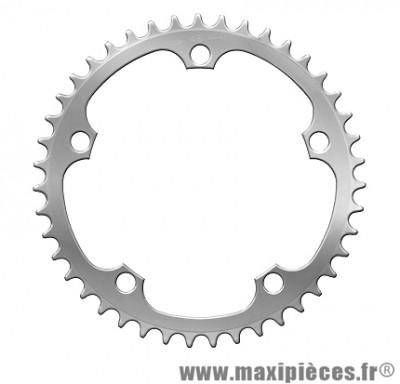 Plateau 43 dents vento diamètre 135mm argent 5 branches (intérieur) marque Spécialités TA - Pièce vélo