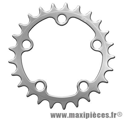 Plateau 25 dents zelito diamètre 74mm argent 5 branches (intérieur) marque Spécialités TA - Pièce vélo