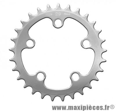 Plateau 29 dents zelito diamètre 74mm argent 5 branches (intérieur) marque Spécialités TA - Pièce vélo