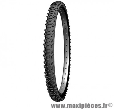 Pneu de vélo dimension 26 x 2,00 country mud tringle rigide noir marque Michelin