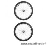 Roues 20 pouces BMX alu 48 rayons (la paire) diamètre 10mm - Accessoire Vélo Pas Cher