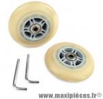 Kit roues/poignées trottinette alu - Accessoire Vélo Pas Cher