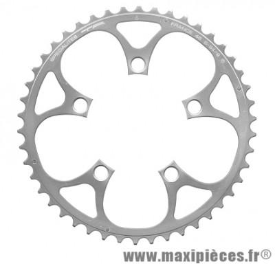 Plateau 46 dents compact diamètre 94mm argent 5 branches (extérieur) marque Spécialités TA - Pièce vélo