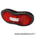 Eclairage arrière sur porte bagages leds + piles marque Basta - Matériel pour Vélo