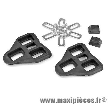 Cale pédales type look noire (la paire) - Accessoire Vélo Pas Cher