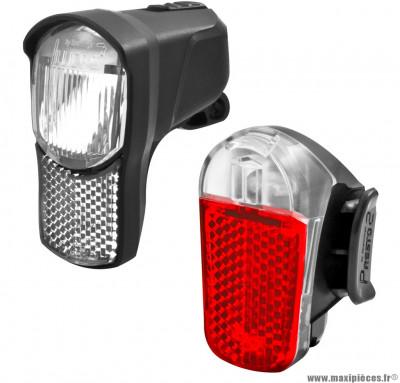 Kit éclairage complet illico/presto - Accessoire Vélo Pas Cher